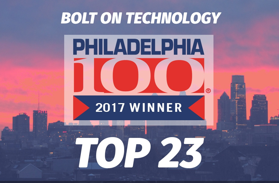 We Won the Philly 100 Award for the 4th Year!