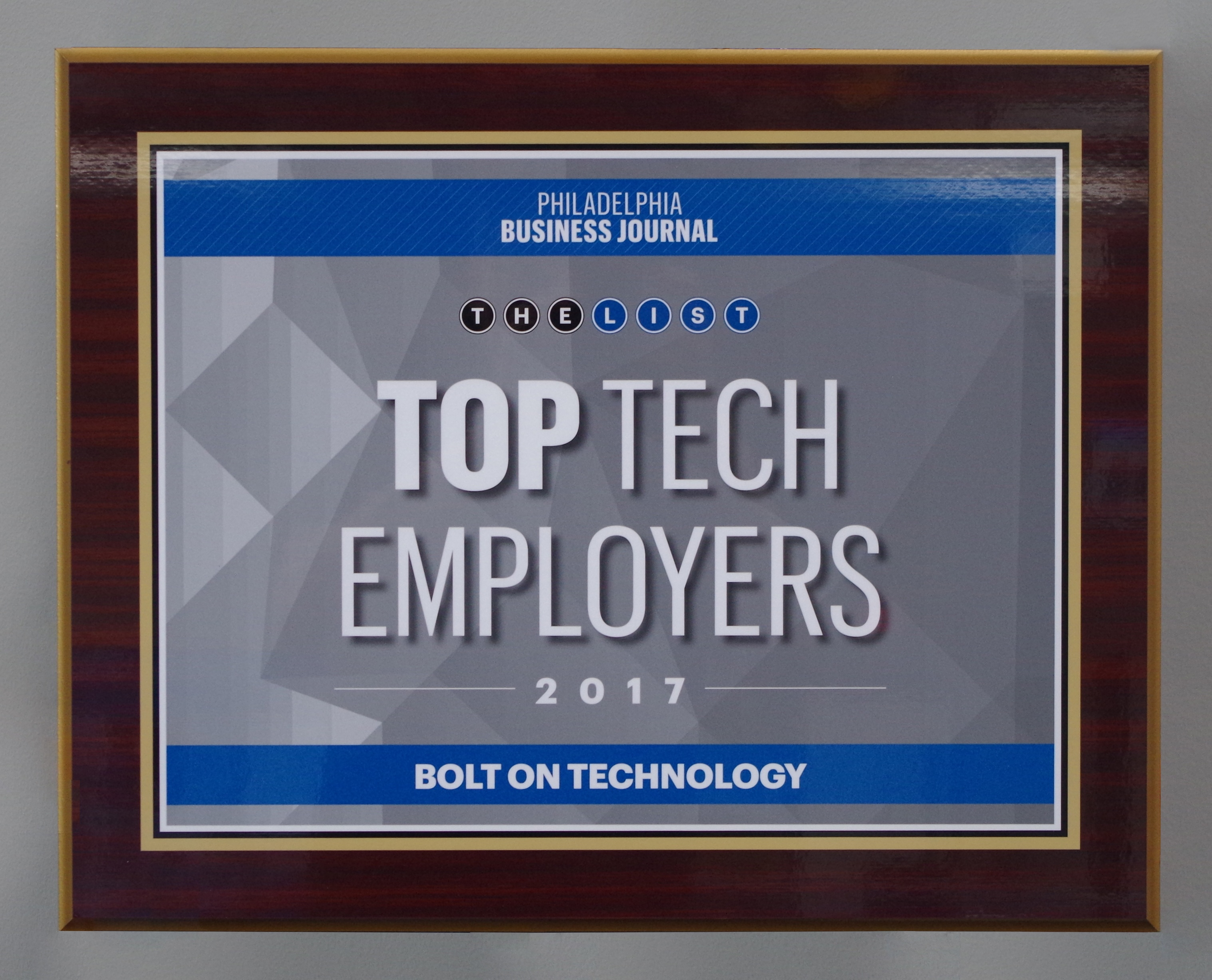 We Won the Top Tech Employers Award