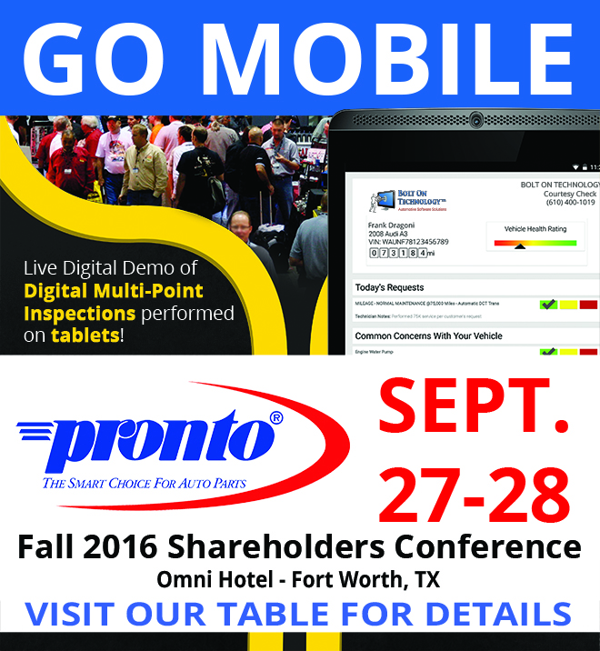 National Pronto Fall 2016 Shareholders Conference