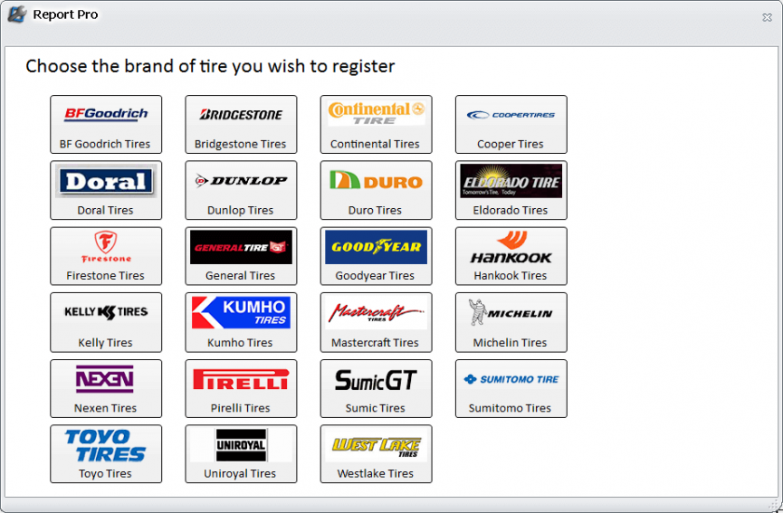 Report Pro Makes Tire Registration Seamless